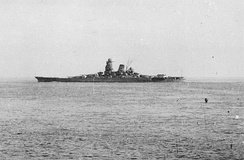Musashi departing Brunei in October 1944 for the Battle of Leyte Gulf