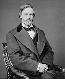 A photograph of John Sherman taken while he was the United States Secretary of the Treasury