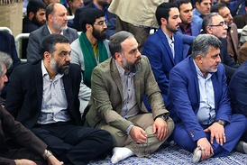 A group of Iranian Maddahs/Dhakirs, in a gathering