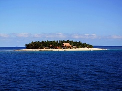 An island in the Mamanuca Islands group
