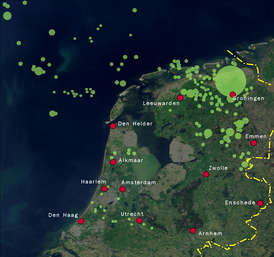 Natural gas concessions in the Netherlands. Today the Netherlands accounts for more than 25% of all natural gas reserves in the EU.