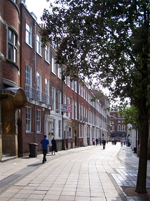 Parliament Street, a Georgian thoroughfare in the city centre, with Whitefriargate in the distance
