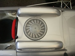Porsche 804 had a cooling fan to cool the air-cooled flat-8 engine.