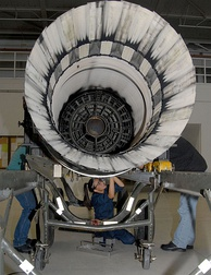 Afterburner - concentric ring structure inside the exhaust
