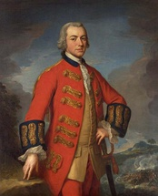 Portrait of the British commander-in-chief, Sir Henry Clinton in dress uniform.
