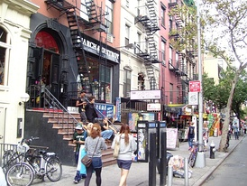 St. Marks Place is a major shopping street, with many businesses that cater to the tourist trade