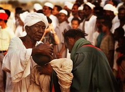 A choreographed Sufi performance on a Friday in Sudan