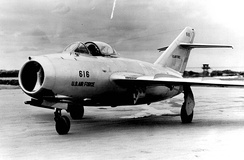MiG-15 delivered by the defecting North Korean pilot No Kum-Sok to the US Air Force