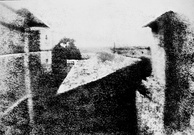 One of the first photographs, produced in 1826 by Nicéphore Niépce