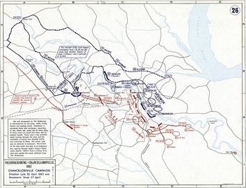 Battle of Chancellorsville, Situation Late 30 April 1863 and Movements since 27 April