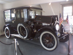 Wilson's Pierce Arrow on display in Staunton, Virginia