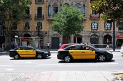 Two typical Barcelona taxis