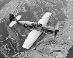 P-51C-10-NT Mustang 42-103896 311th Fighter Group, 14th Air Force Mustang escorting C-47's over China on 24 July 1945