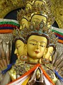 Tibetan statue of Avalokiteśvara with eleven faces.