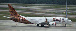 The Boeing 737 MAX 8 entered service with Malindo Air (wearing Batik Air Malaysia livery)