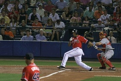 Andruw Jones at bat for the Braves in 2006
