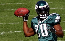 Dawkins before a 2007 Eagles game