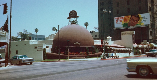 Brown Derby Restaurant, Geoff Edwards KMPC-710 Billboard