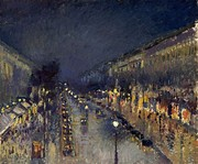 The Boulevard Montmartre at Night, 1898. National Gallery