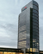 Capital One Tower in Tysons, the tallest building in the region and centerpiece of the 5,000,000 sq ft (464,500 m2) headquarter campus for Capital One.[46]