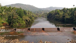 A check dam at Kudumboor across the Chandragiri River