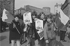 Many Welsh nationalists were opposed to the investiture of Prince Charles at Caernarfon Castle. A large protest was organised in the town in the months before the Investiture.