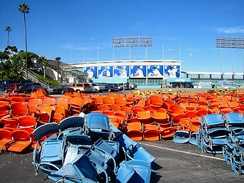 Dodger Stadium seat removal, 2005 offseason.
