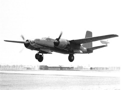 Douglas XA-26 AAC Ser. No. 41-19504 first flight, Mines Field, California, piloted by Benny Howard