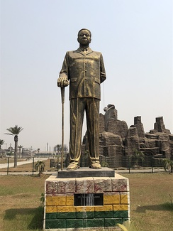 Statue of Dr. Kwame Nkrumah in Owerri, Imo state Nigeria