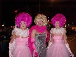 Participants in the High Heel Race on 17th Street NW