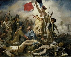 Liberty Leading the People, painting by Eugène Delacroix commemorating the July Revolution of 1830
