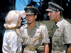 Eva Marie Saint, Paul Newman and Lawford in Exodus (1960)