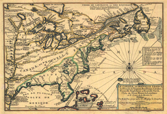 Map of Canada (New France) in 1703