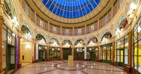 "Rotunda of the Galerie Colbert, built in 1826 as a rival to the next and then very popular ""Galerie Vivienne"" covered passageway"