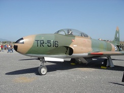 A T-33 Shooting Star of the Hellenic Air Force
