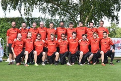 Team photo of the German Guts National Team at the 2016 World Championship 2016 London, England