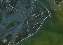 Satellite image of Hilton Head Island, accessed from NASA's World Wind project, January 31, 2007