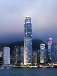 The International Finance Centre in Hong Kong opened in 2003.