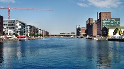 View of the redeveloped Duisburg Inner Harbour in 2010