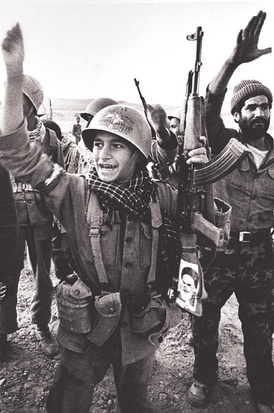 An Iranian child soldier after the Liberation of Khorramshahr