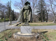 Statue of Jacob Leisler in New Rochelle, New York.