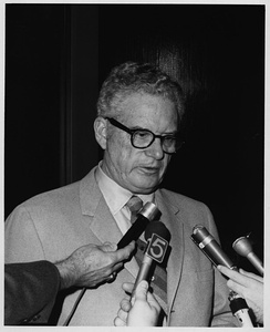 James E. Boyd speaking to the media