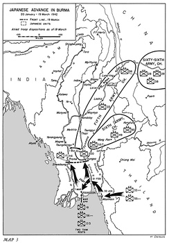 Japanese advance, January–March 1942