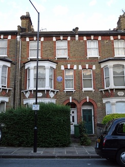 60 Burghley Road, Kentish Town, London, where Nkrumah lived when in London between 1945 and 1947