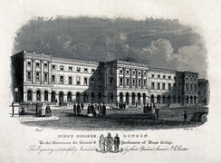 King's College London in 1831, as engraved by J. C. Carter