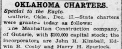 Manhattan Construction Company Charter - December 17, 1907