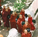 Monks in Myanmar (Burma)