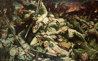 Battle at Mametz Wood by Christopher Williams (1918)