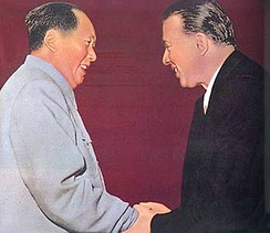 Mao Zedong and Hoxha in 1956