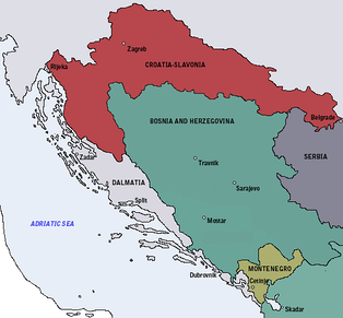 The Kingdom of Croatia-Slavonia was an autonomous kingdom within Austria-Hungary created in 1868 following the Croatian–Hungarian Settlement